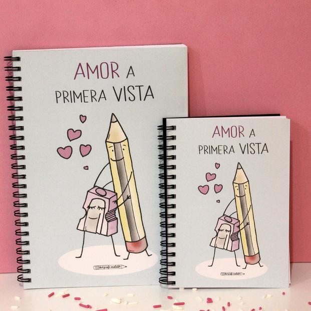"""Libreta A6 """"Amor a primera vista"""""""