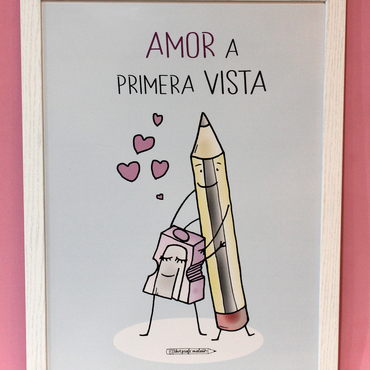 "Lámina A3 ""Amor a primera vista"""