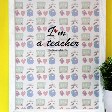 "Lámina A3 ""I'm a teacher"""