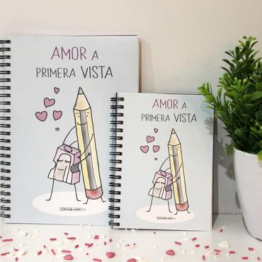 """Libreta A5 """"Amor a primera vista"""""""