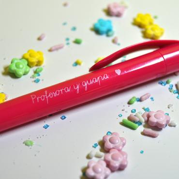 """Bolígrafo  """"Profesora y guapa"""""""