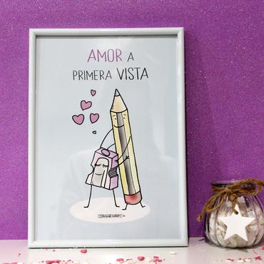 "Lámina A4 ""Amor a primera vista"""
